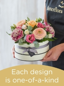 Hatbox made with Seasonal Flowers